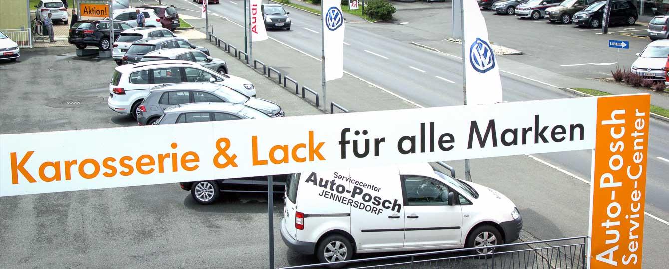 Auto-Posch, das Autohaus, ihr VW - Audi Partner in Güssing und Jennersdorf. Die Posch GmbH ist ein nach dem Qualitätsmanagementsystem DIN EN ISO 9001:2000 geführter Kfz-Betrieb mit Neu- und Gebrauchtwagenhandel, Kfz-Fachwerkstätte, Schnellservice, §57a-Überprüfung, Spenglerei, Lackiererei, speziell für die Marken VW, Audi und Skoda.